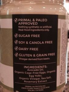 Primal Kitchen Mayo Label