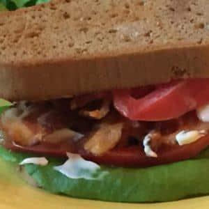 Grain Free Bacon Lettuce & Tomato Sandwich